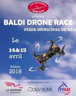 Courses de Drones Racer qualification a Bais
